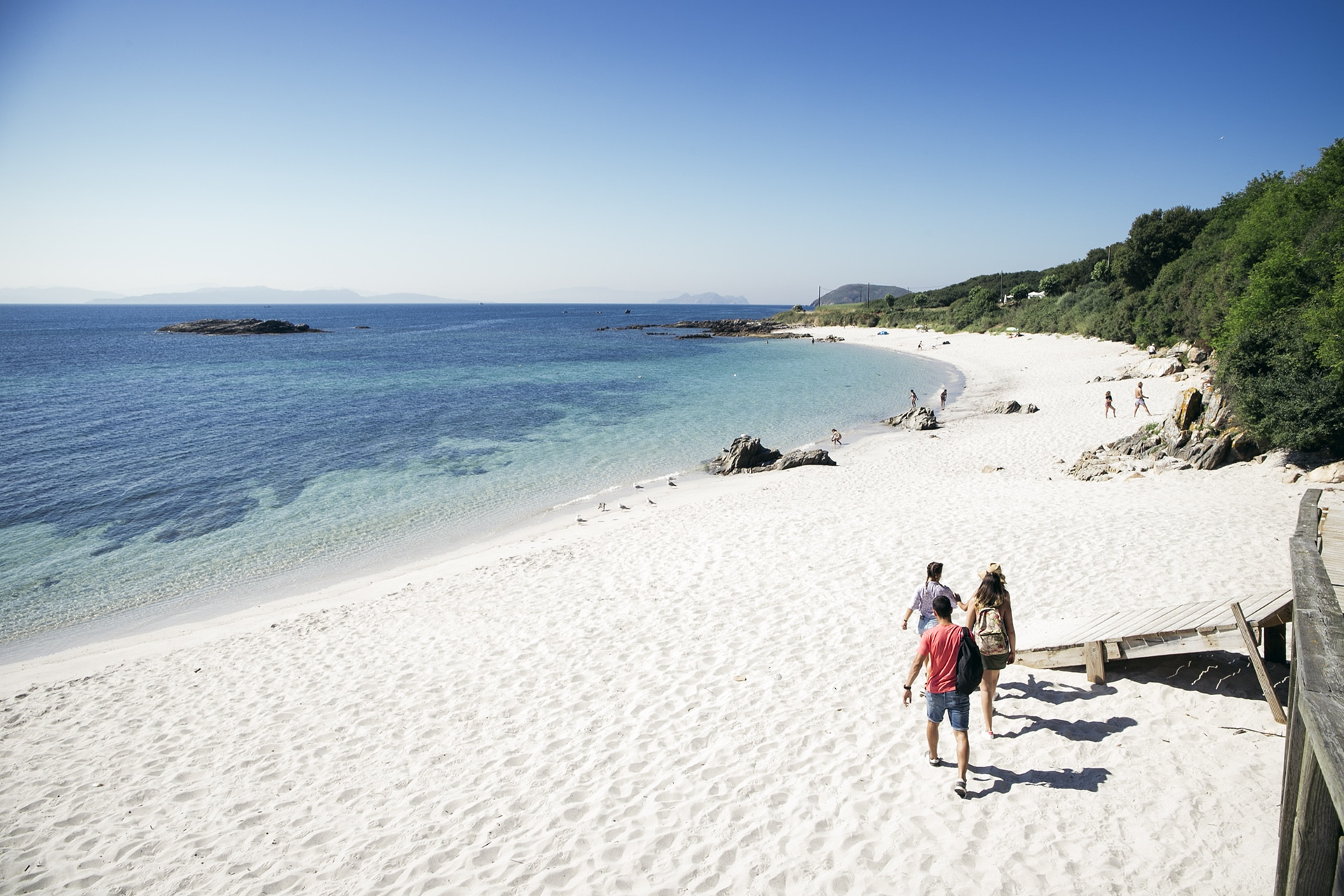 playa en Isla de Ons