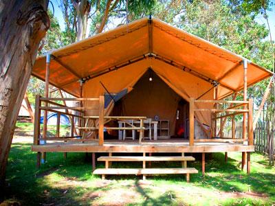 camping en el archipiélago de Ons