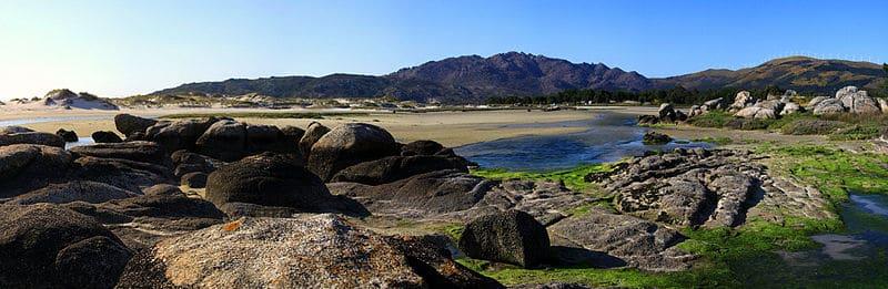 Playa de Carnota. Carnota (A Coruña), la playa más larga de Galicia.
