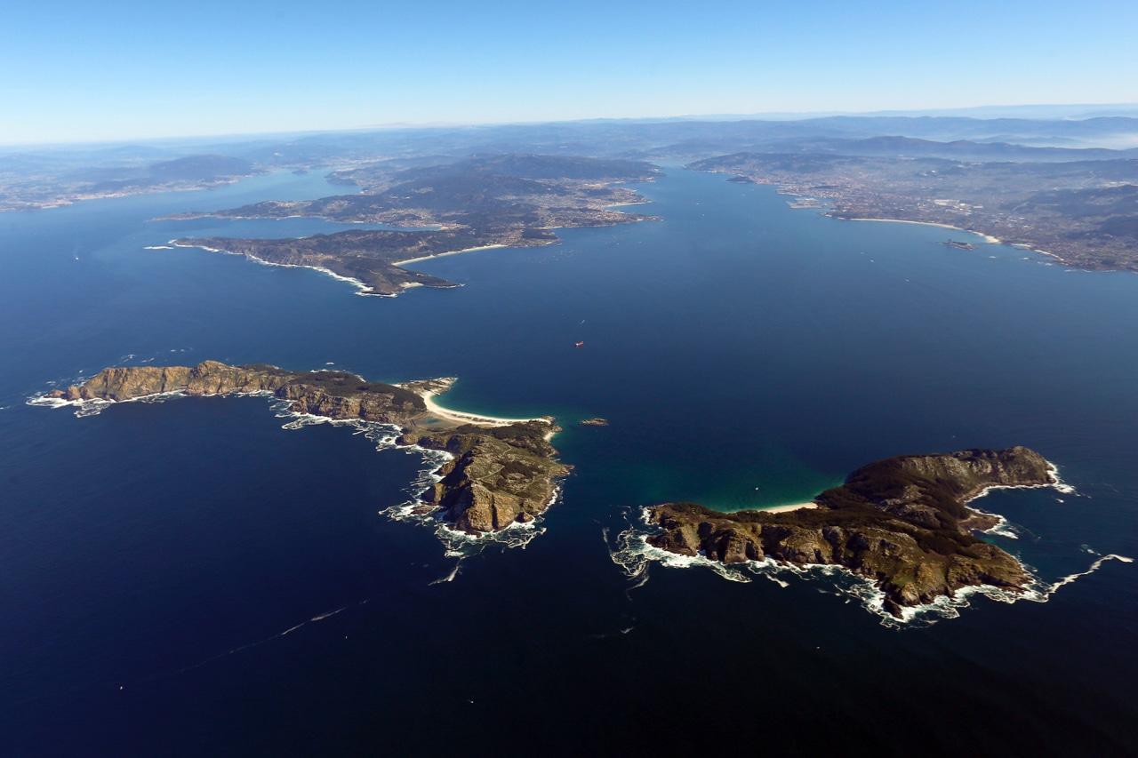 Islas Cíes - Vista aérea