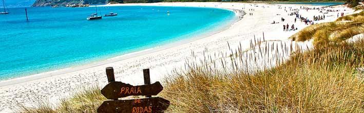 Playa de Rodas en el Parque Nacional Islas Atlánticas