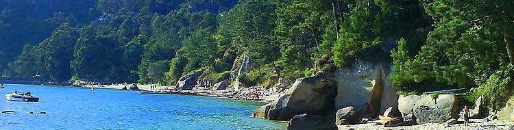Playa a Borna en Moaña, Galicia