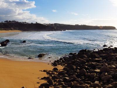 Playa de La Lanzada (O Grove) cerca de Ons