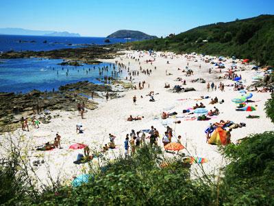 playas en la isla de Ons