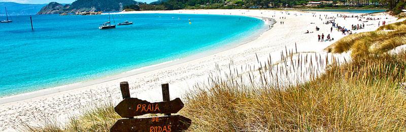Playa de Rodas. Islas Cíes (Pontevedra), quizá la playa más bonita del mundo