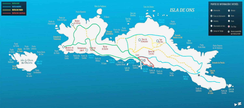 Isla De Ons Mapa.Ven A Visitar La Isla De Ons Una Pequena Gran Isla Nabia Naviera