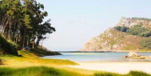 Lago dos Nenos en Playa de Rodas, Islas Cíes, Galicia