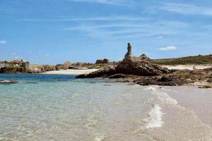 Playas en la isla de Sálvora